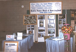 Mobile Power Wash of New England booth at Home and Garden Show.