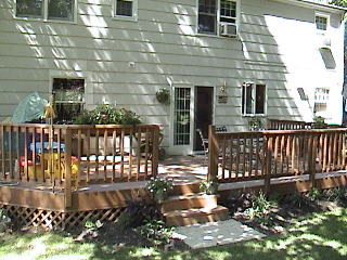 Power washing beatifies and preserves natural wood decks.